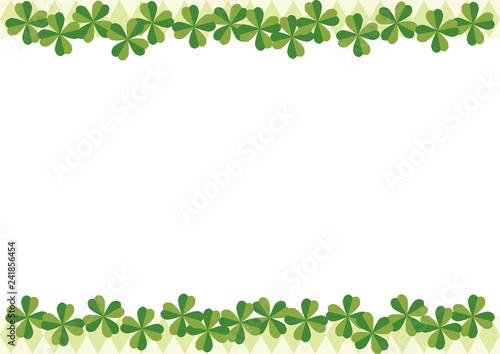 四つ葉のクローバーのフレーム 壁紙用のフレーム フレームのデザイン フレームデザインのコレクション 幸せのシンボル 幸福の四つ葉のクローバー 四つ葉のクローバーのデザイン Stock 벡터 Adobe Stock