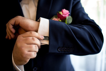 garnitur mankiety spinki do mankietów koszula