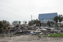 Debris And Destroyed Buildings...
