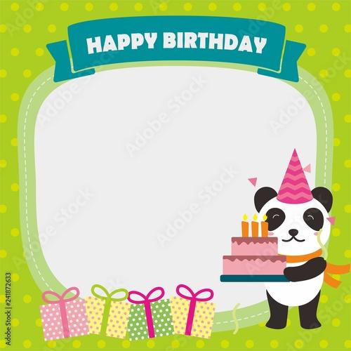 Panda Birthday Stock Illustrations, Cliparts And Royalty Free Panda Birthday  Vectors