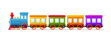 Cartoon Toy Train With Color W...
