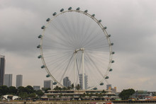 View Of Singapore Flyer, The Largest Ferris Wheel In Singapore
