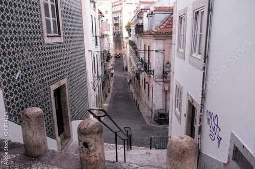 Canvas Print Straße in Lissabon