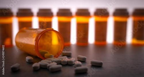 Stampa su Tela  Scattered Prescription Medication