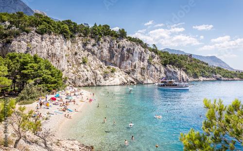 Poster Cote Nugal beach scenery in Croatia