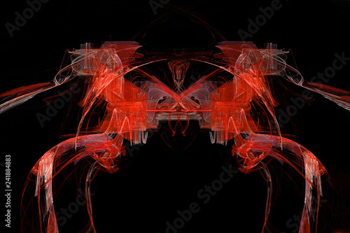 Fotografie, Obraz  The red horses abstract artistic fractal