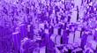 Leinwanddruck Bild - 3D rendering of technology city