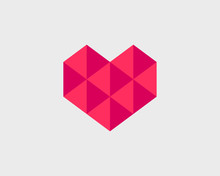 Geometrical Stylized Heart Wit...