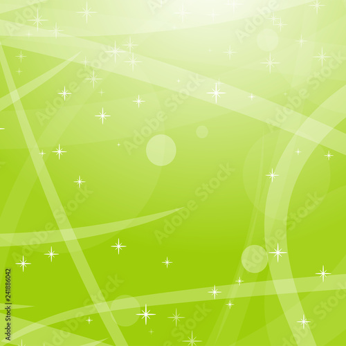 Foto op Canvas Pool Light green abstract background with stars, circles and stripes. Flat vector illustration.