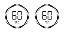 Timer Countdown With Minutes And Seconds Icons