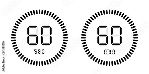 Fotografia  Timer countdown with minutes and seconds Icons