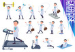flat type Doctor old man_exercise