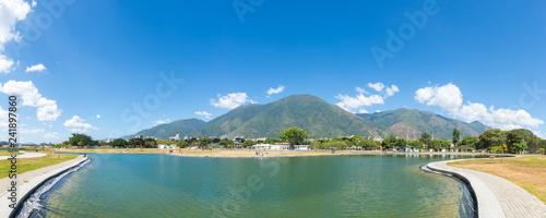 Panoramic View in Caracas Venezuela with Avila Mountain