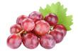 canvas print picture - Weintrauben Trauben rot rote Früchte Frucht Obst Freisteller freigestellt isoliert