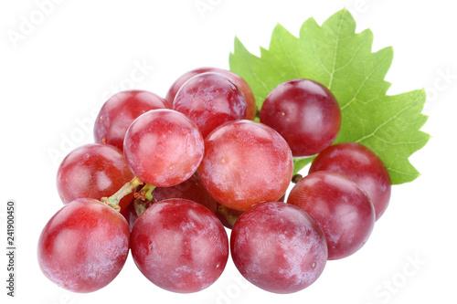 Fotografiet  Weintrauben Trauben rot rote Früchte Frucht Obst Freisteller freigestellt isolie