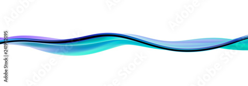 Abstract 3d rendering, liquid surface, wavy line, modern background design