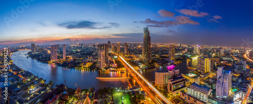 Bangkok city Chao Phraya River Wallpaper Mural
