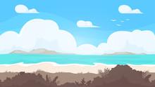 Seamless Beach Landscape. Beau...