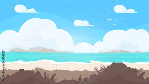 Seamless beach landscape  Beautiful high quality unending background