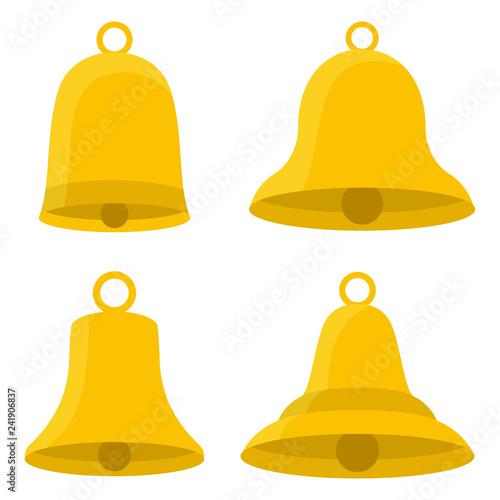 Fotografía Set of bells vector design illustration