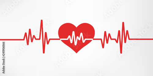 Heart pulse Canvas Print