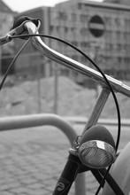 Altes Fahrrad Lenker Im Vorder...