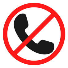 No Phone Handset Icon
