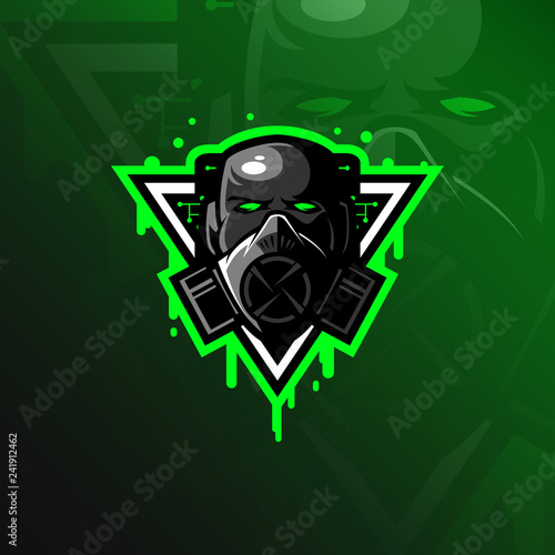Fototapeta toxic mascot logo design vector with modern illustration concept style for badge, emblem and tshirt printing