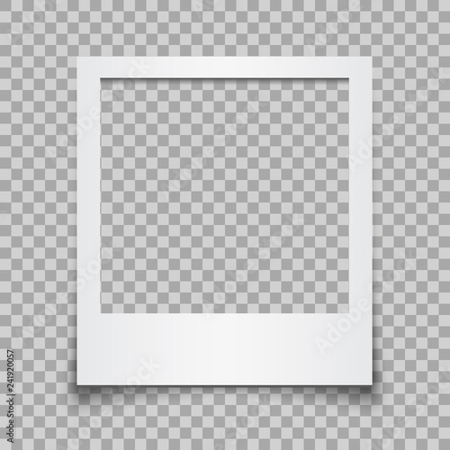 Fotografie, Obraz Empty white photo frame - vector for stock