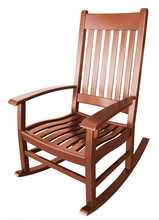 Brown Wooden Rocking Chair Iso...