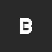 Elegant B Letter Logo Paper Cu...
