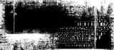 Fototapeta Młodzieżowe - Abstract grunge futuristic cyber technology panoramic background. Drawing on old grungy surface