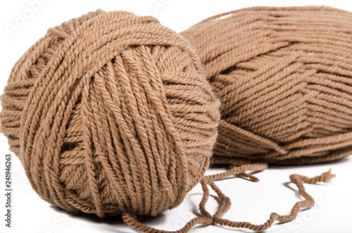 soft brown yarn Canvas Print