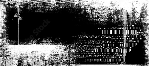 Photo Abstract grunge futuristic cyber technology panoramic background