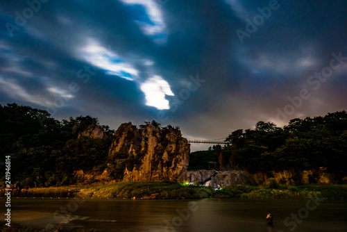 Canvas Prints Cappuccino night view of sujupalbong