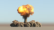 canvas print picture - Atomic explosion
