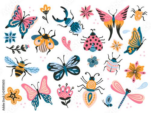 Cute bugs Wallpaper Mural