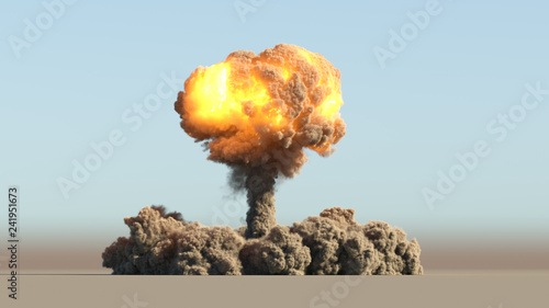 Atomic explosion Canvas Print