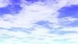 流れる雲と青空