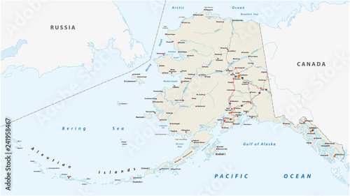 Vector road map of the North American state of Alaska, United States on usa east coast beach map, east coast maine map, east coast road trip map, south east coast usa map, east coast cities map, east coast driving map, east coast ports map, east coast canada map, beamng east coast usa map, east coast states map, east coast beaches map, southern east coast map, east and west coast usa map, east to west coast usa map, east coast travel map, road trip across the usa map, east coast usa weather map, american east coast map, east coast south africa map, east coast highway 1 map,