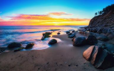 Fototapeta Morze Sunrise over the beach