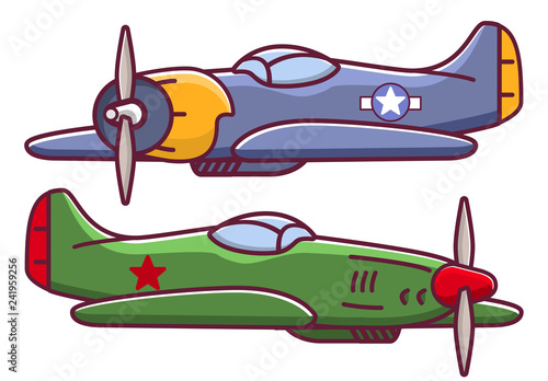 Old military aircraft fighter american Wallpaper Mural