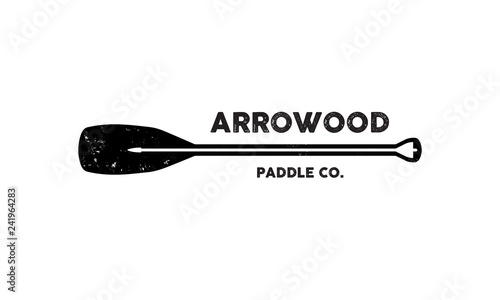 Fotografija Paddleboarding, SUP, Kayaking, Canoeing Vector Design Logo Template