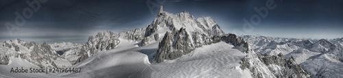 Fotografie, Obraz  Massiccio del Monte Bianco panoramica