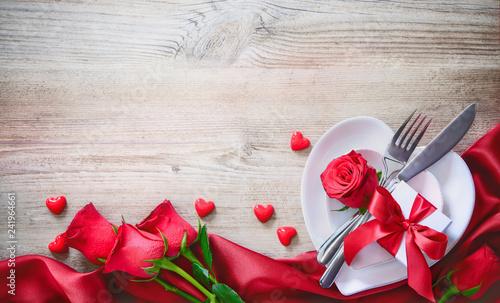 Valentines day dinner concept