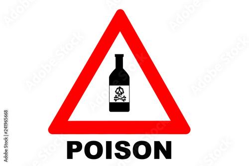 Fotografía  Poison warning