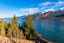 Columbia Lake Which Is The Headwaters Of The Columbia River In The East Kootenays Near Invermere British Columbia Canada In The Early Winter