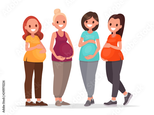 Fotomural Group of pregnant women