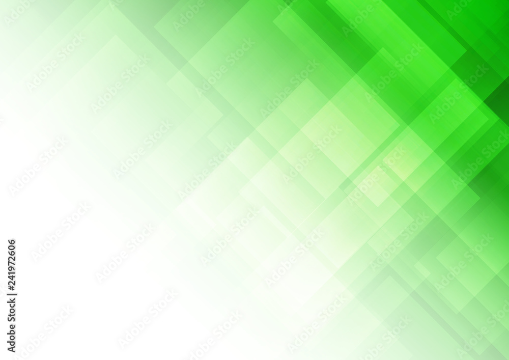 Fototapety, obrazy: Abstract green background with square shapes