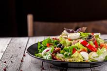 Spanish Cuisine. Mixed Salad F...